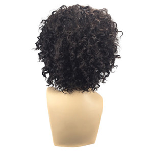 Wholesale Hair Care Wig Stands Synthetic Hair Bang Wig Short Length Heat Resistance Afro Curly Full Wigs Cap cm Women s Fashion Oct24