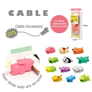 Wholesale Cable Bite Animal Bite Cable Protector Accessory Toys Cable Bites Dog Pig for iPhone Charger Cord Packging Aicoo