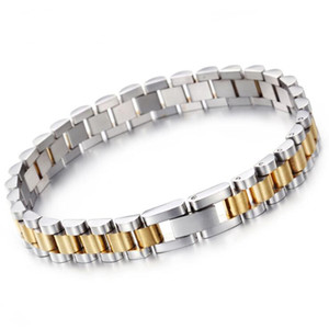 10mm 15mm Luxury Hiphop Stainless Steel Bracelet Men Gold Silver Watchband Design Men's Women Bracelets & Bangles For Man Jewelry for Lovers