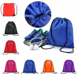 Sports Bag waterproof Drawstring Backpack Oxford Travel Shoes Storage Pouch Beach Storage Bag Organizer Backpack 6 color