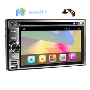 ingrosso android dash doppio din-Backup Camera Android Octa Core G RAM Car Stereo doppio Din Capacitivo Touch Screen Car DVD Player In Dash Navigazione GPS