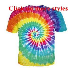 Wholesale Dazzle colour visual funny tshirts New fashion men women d character t shirts t shirt D Print tshirt tops