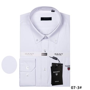 2018 new men's long-sleeved high 100% cotton shirt good quality men's casual 9ant fashion shirt social brand men shirt M to 4XL on Sale
