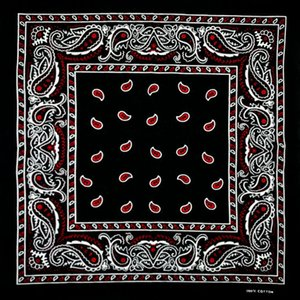 Wholesale Cotton Black Bottom Red Paisley Bandana Multipurpose Hip hop Unisex Bandanas Hair bands Single Sided Head Wrap Scarf Scarves