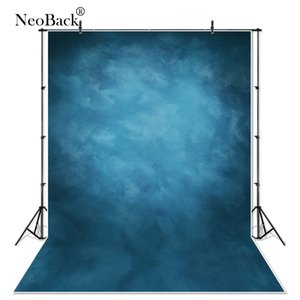 Wholesale NeoBack X7 Vinyl Cloth Photography Backdrop Red Background Studio Misty Blue Portrait Photo Backdrop Wedding P1410
