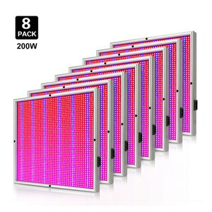 Wholesale 8pcs W AC85 V Full Spectrum LEDs Red Blue Led Grow Panel Lamp SMD2835 Grow Light Best Sale