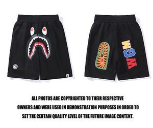 Wholesale Europe and the United States summer new animal mouth pattern printing men and women shorts casual large size loose five pants