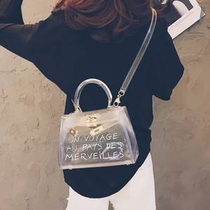 Wholesale New Tote Bag Designer Purse Crossbody Bag Handbag Women Bags Clear Transparent PVC Shoulder Bag Candy Color