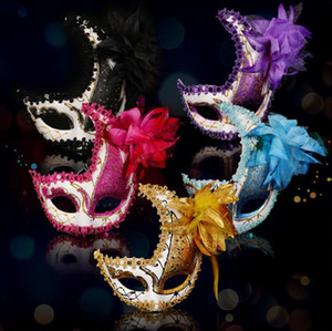 Wholesale moon mask for sale - Group buy New Adult Children Crescent Moon Masquerade Masks Party Side Flower Carnival Mask Halloween Masks Bar Club Performance Half Face Mask