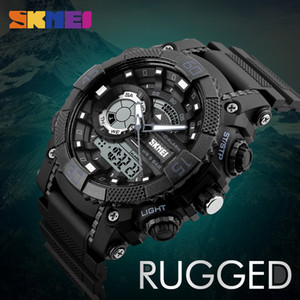 Wholesale SKMEI Men Sports Watches Digital Quartz Watch LED Big Dial M Waterproof Dual Display Wristwatches Relogio Masculino
