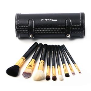 9pcs-M &AC Foundation Makeup Make Up Brushes Foudantion Setting Loose Powder Eyeshadow Blush Brush Set DHL FedEx Shipping