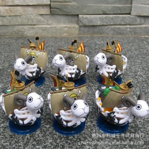 Wholesale 6pcs set Going Merry Ship One Piece Anime Collectible Action Figures PVC Collection toys for christmas gift