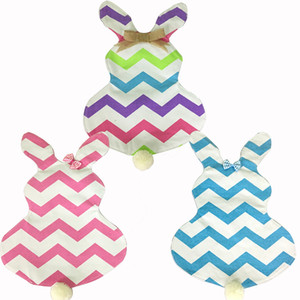 Wholesale 50pcs chevron easter garden flag easter decoration canvas with EVA inch chevron garden flag