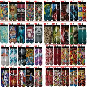 New 720 design 3d printed socks kids women men hip hop 3d odd cotton skateboard printed sock For Festive and Partys for Christmas Gift