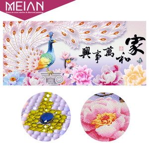 Wholesale Era Special Diamond Embroidery Full DIY quot Harmony Family Peacock quot Diamond Painting Cross Diamond Mosaic Bead Picture Home Decor