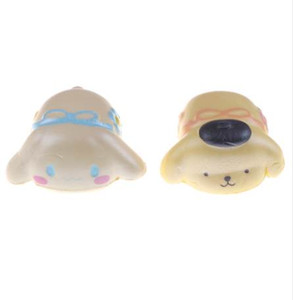 Wholesale 1PC Cartoon Pom Pom Purin Cinnamoroll Squishy Japan Slow Rising Jumbo Phone Straps Scented Pendant Bread Cake Kids Squeeze Toy