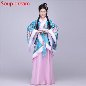 Wholesale Traditional Chinese Folk Dance For Woman Black Costumes Man Children For Women Dresses Ancient Costume Hanfu Dress Tang Dynasty