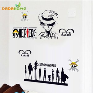 Wholesale Cartoon Marine Wall sticker One Piece Car sticker Vinyl Wall decal Strong World Stickers for Kids rooms x65cm