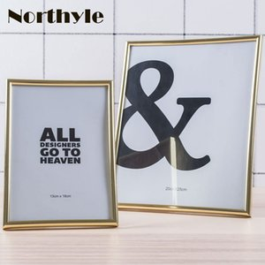 Wholesale Gold theme simple photo frame plastic frame for x7in and x10in picture gold picture home decoration christmas gift