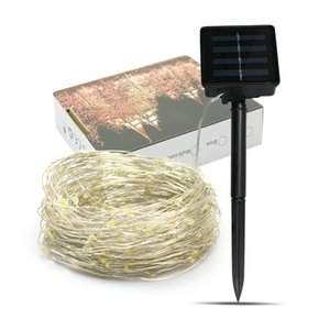 Wholesale Hot selling Christmas light string meters LED festival decorative lights string new solar lamp string