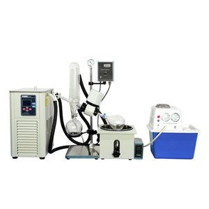 ZZKD Official brand Laboratory RE-201D Rotary Evaporator Bundle Includes 2L Rotary Evaporator   Chiller   Vacuum Pump Kit