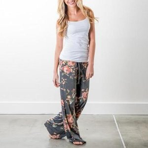 2018 yoga pants LADIES FLORAL YOGA PALAZZO TROUSERS WOMENS SUMMER WIDE LEG PANTS PLUS SIZE 6-20