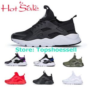 Wholesale 2018 Air Huarache Men Women Running Shoes All White Huraches Zapatos Ultra Breathe Huaraches Mens Trainers Hurache SE Sports Sneakers
