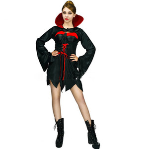 Wholesale Masquerade New Stage Dress Party Performance Ghost Festival Halloween cosplay plays horror ghost bride female vampire costume