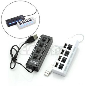 Wholesale HOT SELLER Port USB High Speed Hub ON OFF Indicator Led Sharing Switch For Office Family Laptop Tablet PC Brand New