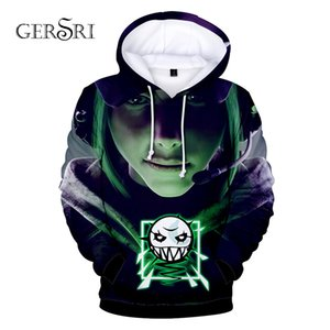 Gersri Men 3D Hoodies brand Pocket Hooded Sweatshirts Hot 3D Animation Pullovers Tracksuits Teen Long Sleeve Outerwear on Sale