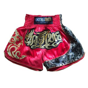 2018 New Men's Printing Boxing Shorts Fight Training Sanda Muay Thai Martial arts Comprehensive MMA Gym PU kickboxing Shorts on Sale