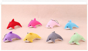 Wholesale Kawaii Mini Dolphin Plush Toy Charms For Bag Pendant Gift Bouquet Decoration Cell Phone Accessories Toys CM