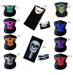 Wholesale skull half helmets motorcycle for sale - Group buy bike motorcycle helmet face mask half skull mask CS Ski Headwear Neck cycling pirate headband hat cap halloween mask pirate kerchief