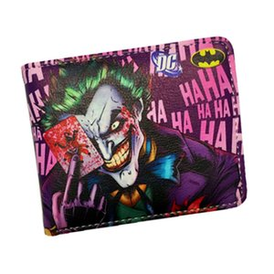 Wholesale Anime Wallets New Designer The Joker Captain America Wallet Young Boy Girls Superhero Purse Small Money Bag