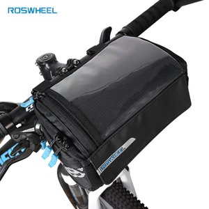 Roswheel New Bike Frame Bag PVC Map Pocket Top Tube Bag Pannier For Bicycle Front Rack Storage Bags Riding Cycling Handlebar