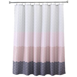Wholesale long bathtub for sale - Group buy Eco Friendly Longer Pink Bathtub bathroom Shower Curtain Fabric Liner with Hooks Wx80H inch Waterproof and Mildewproof