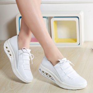 Big Size 35-42 Lace-up Slim Shoes for Female Ladies Outdoor Thick Bottom Sneakers Women's Anti-slip Sweat Sport Shoes Date