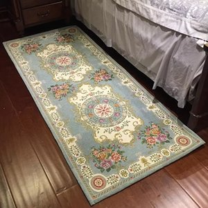 Long size classical retro floral bedside carpet, dressing room carpet, Persian style door mat,narrow square gallery carpet