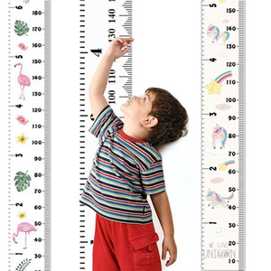Wholesale height charts for wall resale online - Baby Growth Chart Handing Ruler Wall Decor for Kids Canvas Removable Height Growth Chart quot by quot baby room wall sticker