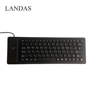 Wholesale Landas Portable Silicone Korea Keyboard For Notebook Flexible Roll up Waterproof Soft USB Korean Keyboards for Desktop Laptop PC