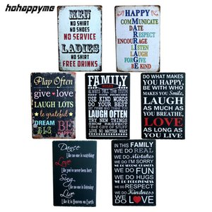 Wholesale English poetry Romantic Sign CM Vintage Tin Signs Home Decoration Bar English Poetry Metal Craft Gifts Poster Iron Painting Y18102409