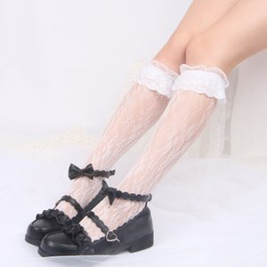 Wholesale Accessories Stockings Tights Socks Lolita Lace Over The Knee Long Stocking Socks Thighhighs For Maid Dress Cosplay Costumes A9984