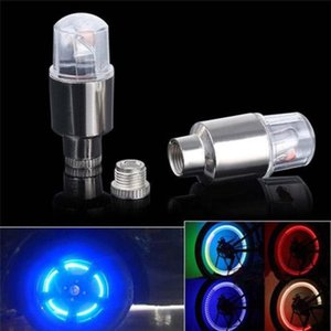 Wholesale 2X Bike Car Motorcycle Wheel Tire Tyre Vae Cap Neon LED Flash Light Lamp Hot Mountain Road Bike Bicycle Light safety nighttime