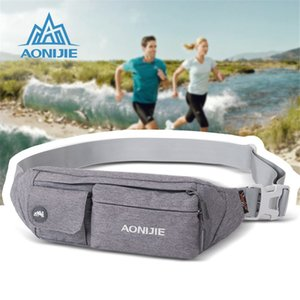 Wholesale AONIJIE New Outdoor Sport Running Belt Waist Bag For Men Women Multipurpose Waist Bags Portable Mini Money Fanny Pack