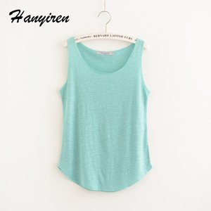 Wholesale 2017 Summer Fitness Tank Top New T Shirt Loose Model Women T shirt Cotton O neck Slim Tops Fashion Woman Clothes