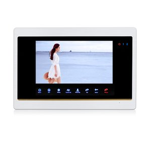 Wholesale P HD quot LCD Screen Record Monitor Touch Sensor Button PIR Alarm Record Set Unlock Time for Video Door Phone