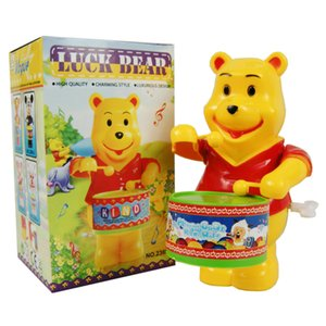 Wholesale On the chain drum bear swing bear spring toy children's toy wholesale