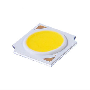 Wholesale cob led 5w chip resale online - LED Source Chip Light Lamp W DC15 V LED COB Chip Board size mm Luminous size mm for MR11 GU10 Track lamp