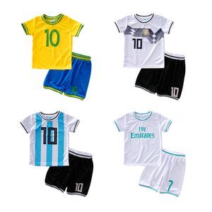 High Quality Kids Football Kit 2018 Custom Team Child Training Football Jersey Set Children girls Boys Soccer Uniforms Clothing