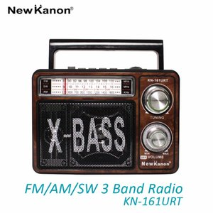 Wholesale NewKanon KN URT SW AM FM radio portable multiband torch light external antenna USB SD card speaker freeshipping